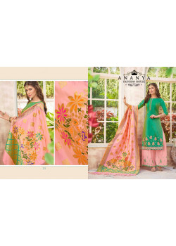 Enigmatic Green Pure Masline Salwar kameez