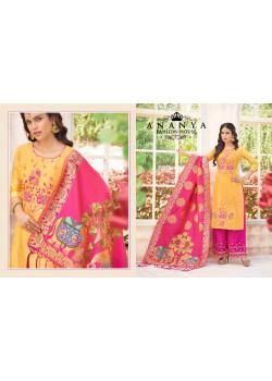 Incredible yellow Pure Masline Salwar kameez