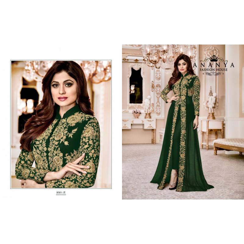 Gorgeous Light Green   Georgette Salwar kameez