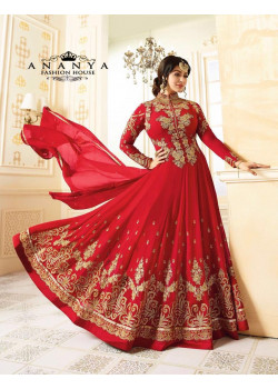 Incredible Red   Georgette Salwar kameez