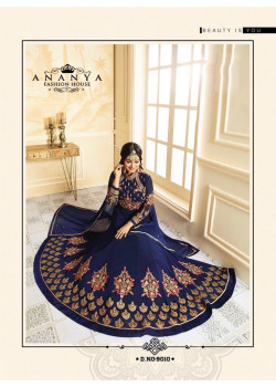 Plushy Dark Blue   Georgette Salwar kameez