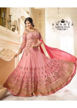 Enigmatic Pink   Georgette Salwar kameez