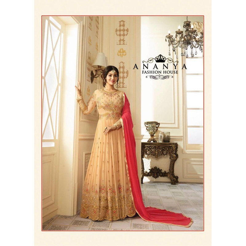 Classic Gold   Georgette Salwar kameez