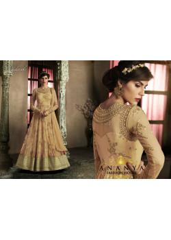 Enigmatic Gold Silk Salwar kameez