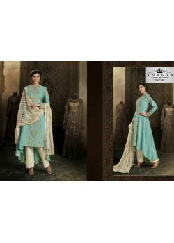 Adorable Blue Silk Salwar kameez