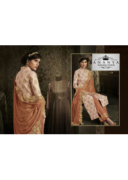 Luscious Orange Silk Salwar kameez