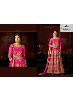 Luscious Dark Pink Malburry Silk Salwar kameez