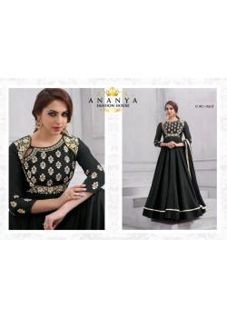 Luscious Black Tafeta Silk Salwar kameez