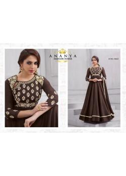 Trendy Brown Tafeta Silk Salwar kameez