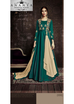 Incredible Dark Green Tapeta Salwar kameez