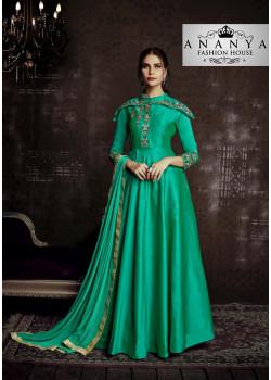 Charming Green Tapeta Salwar kameez