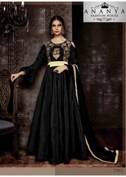 Dazzling Black Tapeta Salwar kameez