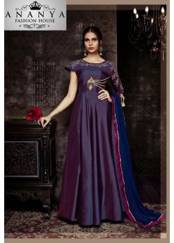 Divine Purple Tapeta Salwar kameez