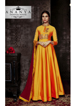 Gorgeous Yellow Tapeta Salwar kameez