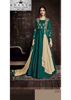 Incredible Dark Green Tapeta Salwar kameez