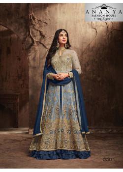 Exotic Blue Banarasi Silk Salwar kameez