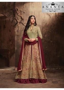 Magnificient Maroon Banarasi Silk Salwar kameez