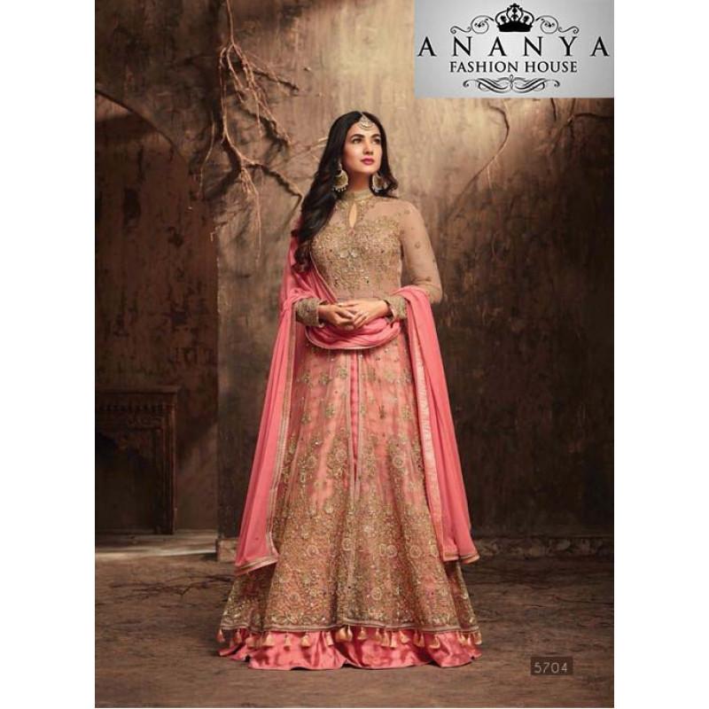 Divine Pink Banarasi Silk Salwar kameez