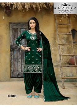 Classic Green Taffeta Silk Salwar kameez