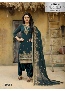 Charming Green Faux Georgette Salwar kameez