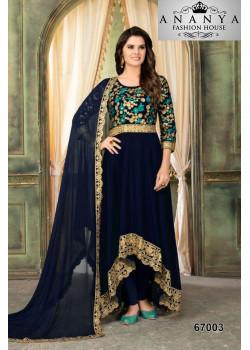 Charming Blue Faux Georgette Salwar kameez