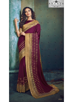 Exotic Purple Georgette Saree with Purple Blouse