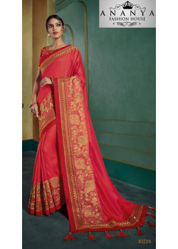 Classic Pink Georgette Saree with Pink Blouse