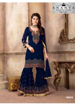 Adorable Blue Georgette Salwar kameez