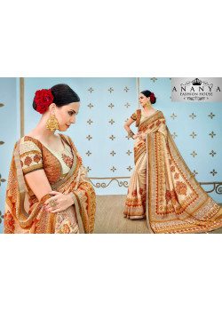 Flamboyant Multicolor Banarasi Silk Saree with Multicolor Blouse