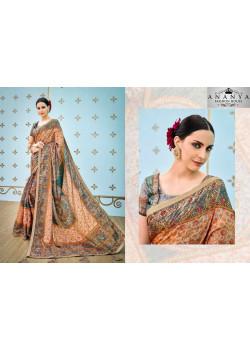 Gorgeous Multicolor Banarasi Silk Saree with Multicolor Blouse