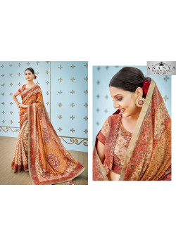 Divine Multicolor Banarasi Silk Saree with Multicolor Blouse