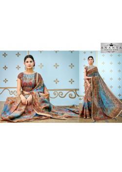 Exotic Blue Banarasi Silk Saree with Blue Blouse