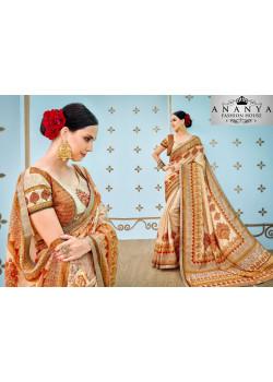 Flamboyant Multicolor Banarasi Silk Saree with Multicolor Blouse