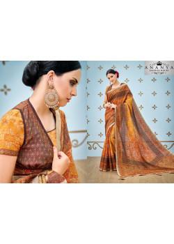 Incredible Yellow Banarasi Silk Saree with Yellow Blouse