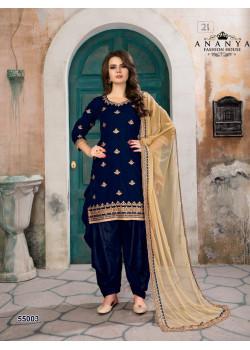 Divine Dark Blue Velvet Salwar kameez