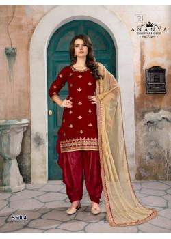 Gorgeous Red Velvet Salwar kameez