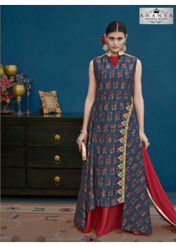 Enigmatic Multicolor Silk Salwar kameez