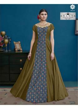 Flamboyant Multicolor Silk Salwar kameez