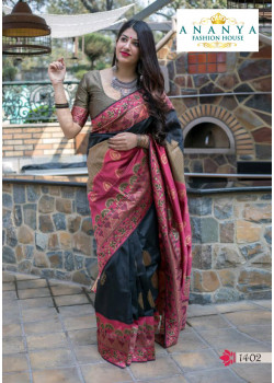 Classic Multicolor Silk Saree with Copper Blouse