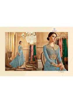 Gorgeous Pastel Blue Georgette- Santoon Salwar kameez