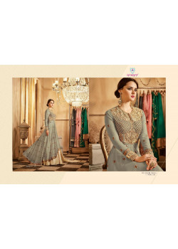 Incredible Grey Georgette- Santoon Salwar kameez