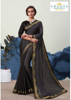 Classic Black Georgette Saree with Black Blouse