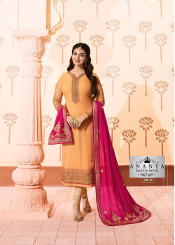 Divine Orange Georgette Salwar kameez