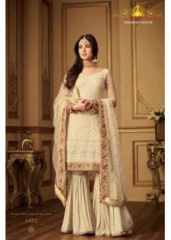 Exotic Off White Net- Santoon Salwar kameez