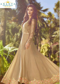 Enigmatic Beige Soft Georgette Salwar kameez