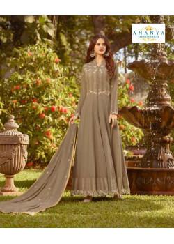 Classic Grey Soft Georgette Salwar kameez