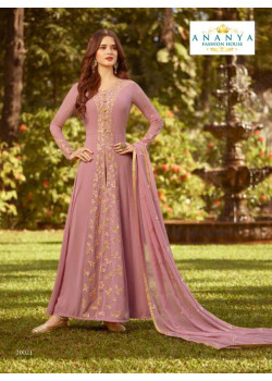 Adorable Lavender Soft Georgette Salwar kameez