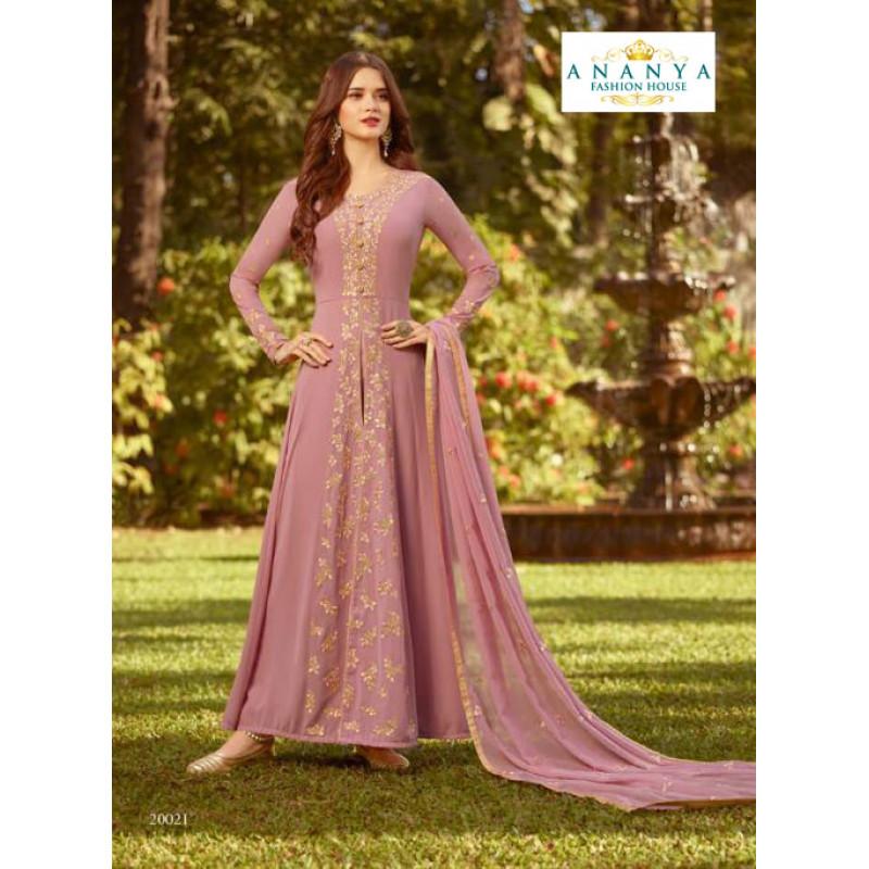 Adorable Lavender Soft Georgette Salwar kameez