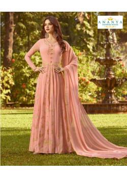 Luscious Pink Soft Georgette Salwar kameez