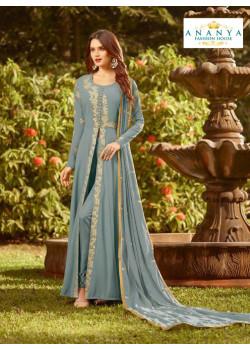 Melodic Pastel Blue Soft Georgette Salwar kameez
